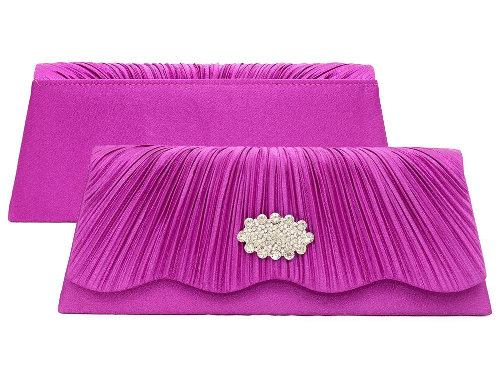 100% Wahr Clutch Abendtasche Brauttasche Handtasche Damen Violett Lila Brauttasche Strass Damentaschen