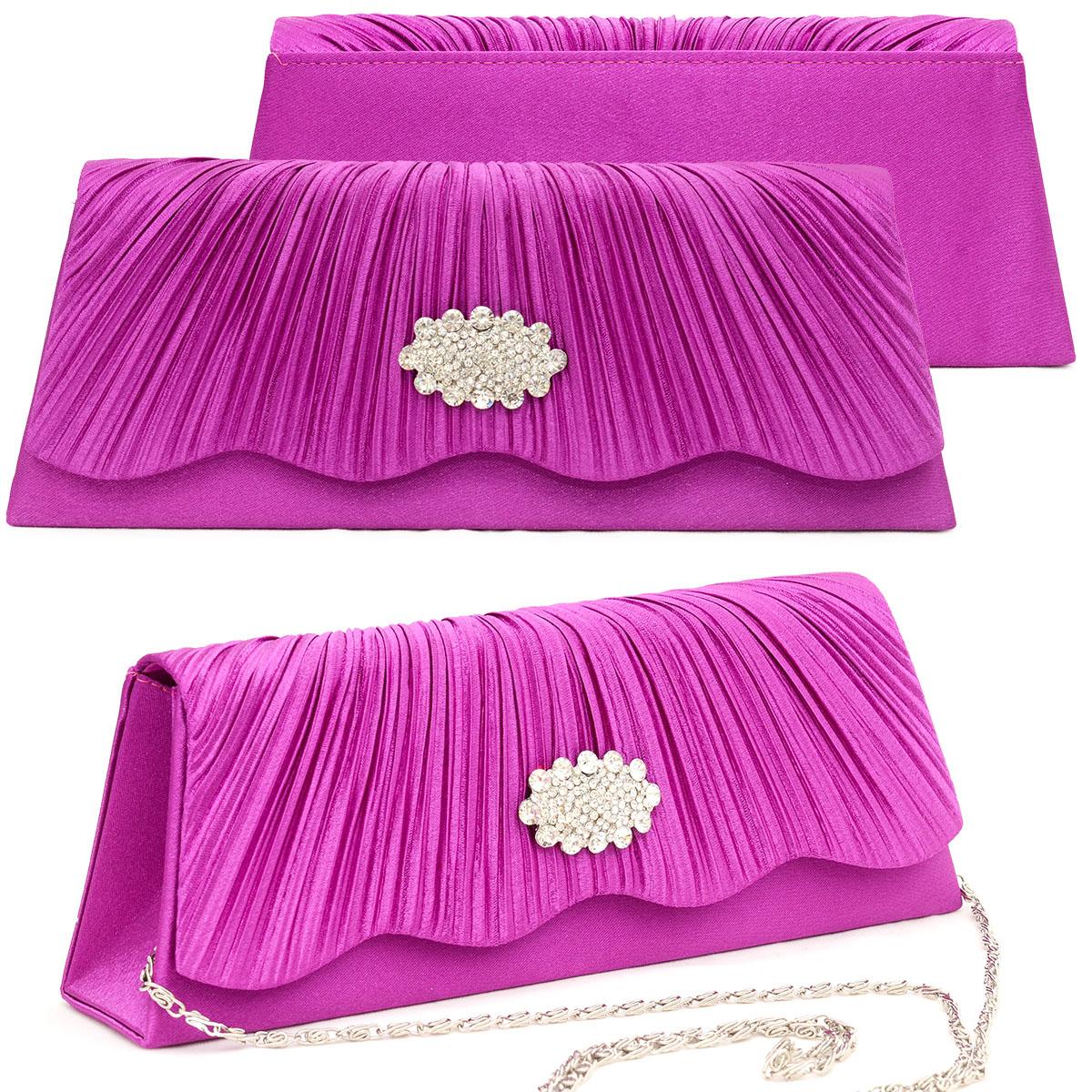Taschen Kleidung & Accessoires 100% Wahr Clutch Abendtasche Brauttasche Handtasche Damen Violett Lila Brauttasche Strass