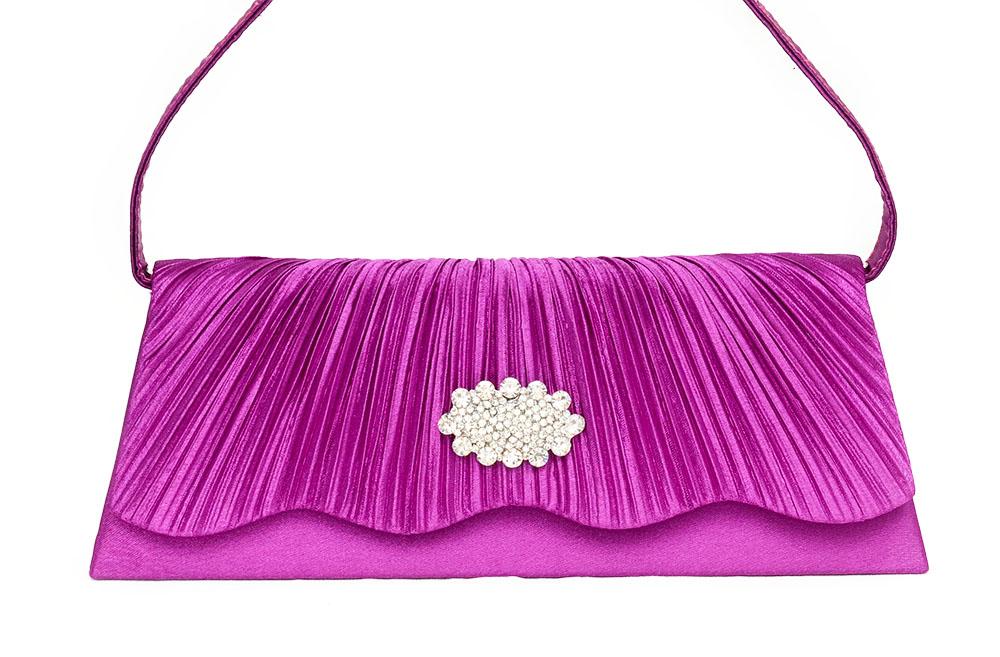 Damentaschen 100% Wahr Clutch Abendtasche Brauttasche Handtasche Damen Violett Lila Brauttasche Strass Kleidung & Accessoires