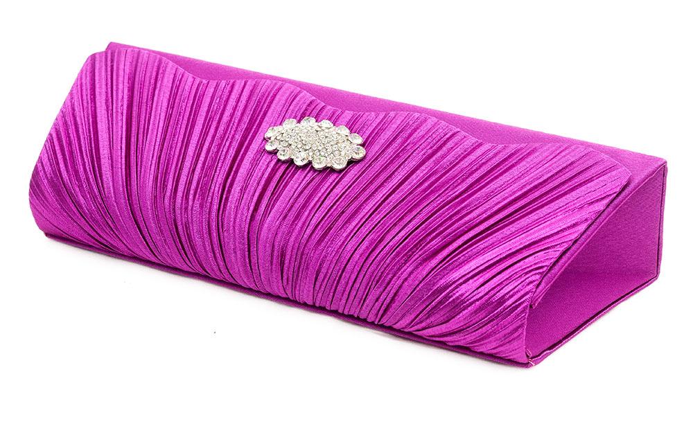 100% Wahr Clutch Abendtasche Brauttasche Handtasche Damen Violett Lila Brauttasche Strass Kleidung & Accessoires