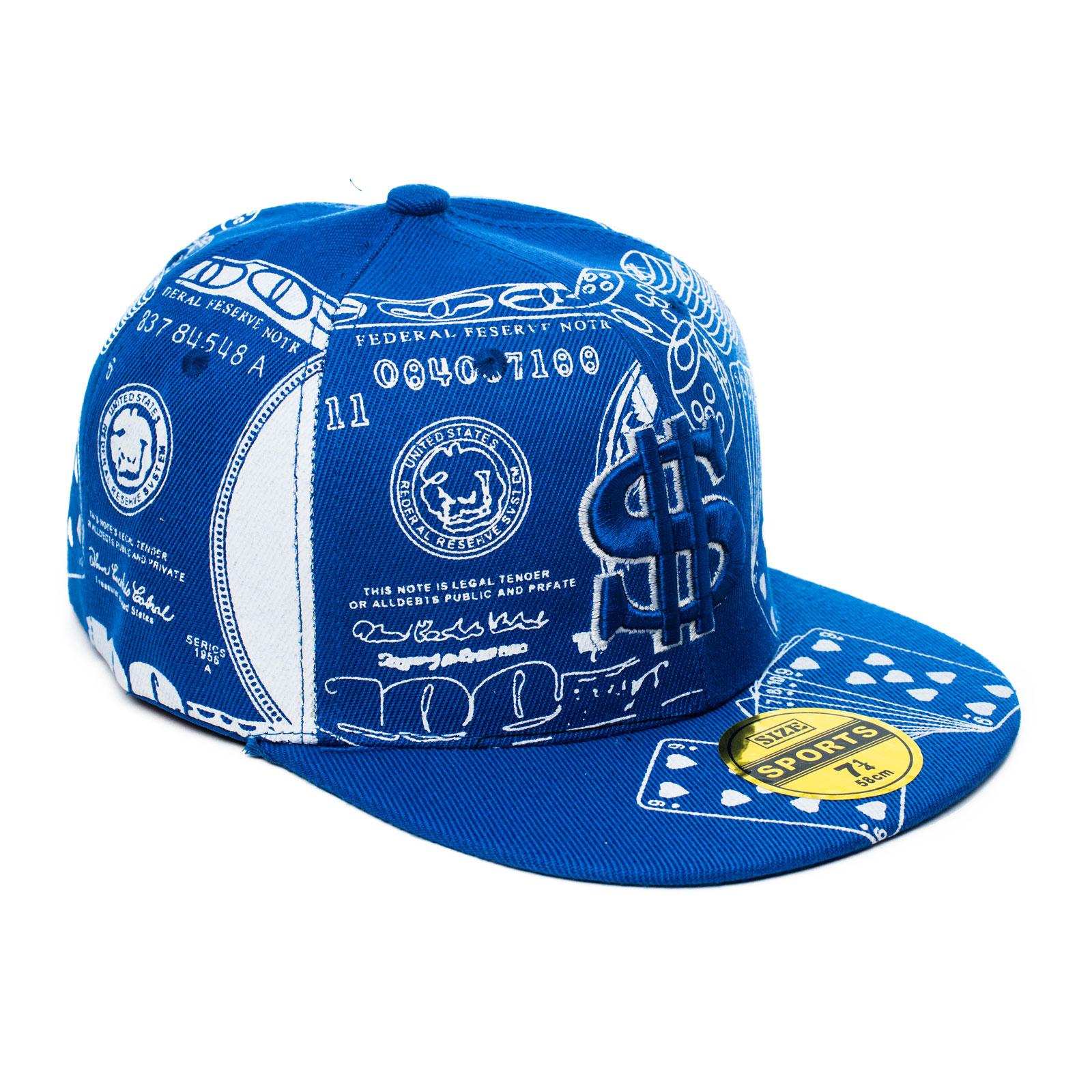 Basecap Cap Snapback USA Dollar Poker Look Baseball Aufschrift ...