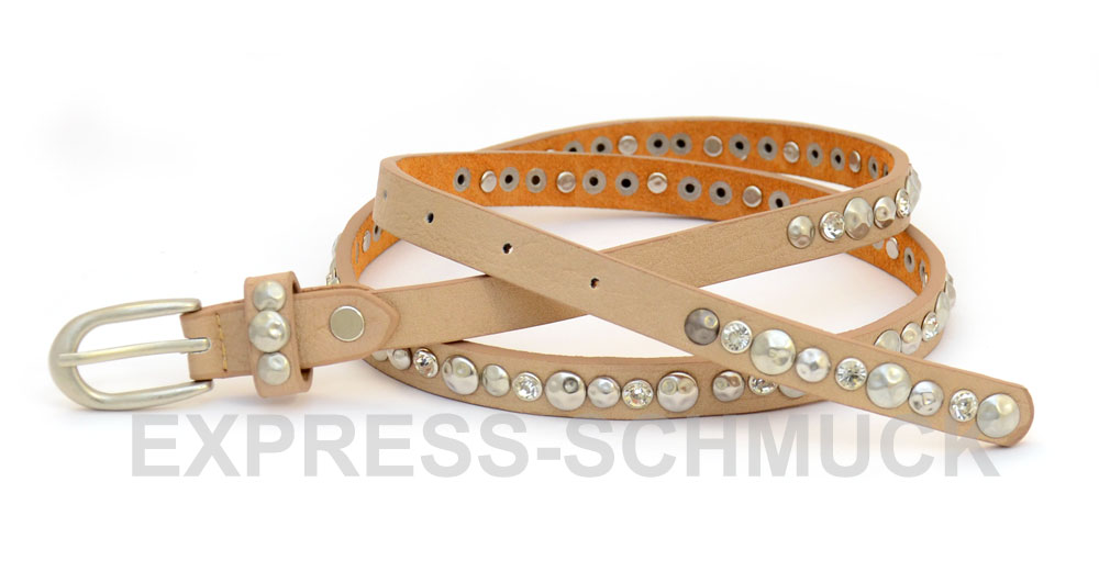 NIETENGURTEL-Damen-Nieten-Sterne-Guertel-Damenguertel-Matt-Vintage-85-90-95-NEU